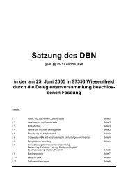 Satzung des DBN - Deutscher Bundesverband der Landwirte im ...