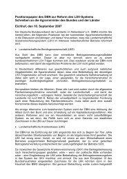 Positionspapier des DBN zur Reform des LSV-Systems Schreiben ...