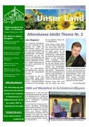 Unser Land - Deutscher Bundesverband der Landwirte im ...