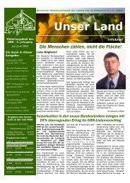 Sozialwahlen 2005 - Deutscher Bundesverband der Landwirte im ...