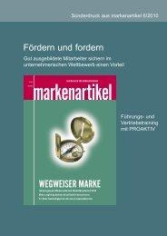 Markenartikel 6/2010 - Pro: Aktiv