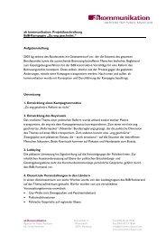 Projektbeschreibung - ah kommunikation | Agentur für Public ...