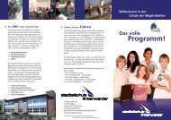 Flyer Stadtteilschule Finkenwerder