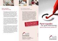 Flyer BdB-Kampagne - Partei für gute Betreuung