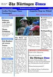 Großes Nürtingen Times Gewinnspiel Jungschar ... - EmK Herrenberg