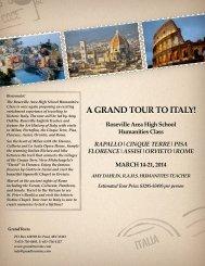 RAHS Humanities Italy Trip - Roseville Area Schools
