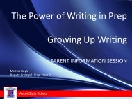 Growing Up Writing - Prep Parent Information Session - Ascot State ...