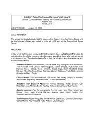 June 2010 - Eastern Area Workforce Development Board