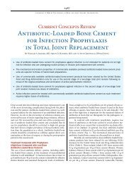 Antibiotic-Loaded Bone Cement for Infection Prophylaxis in Total ...