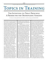 The Intention-to-Treat Principle: A Primer for the Orthopaedic Surgeon