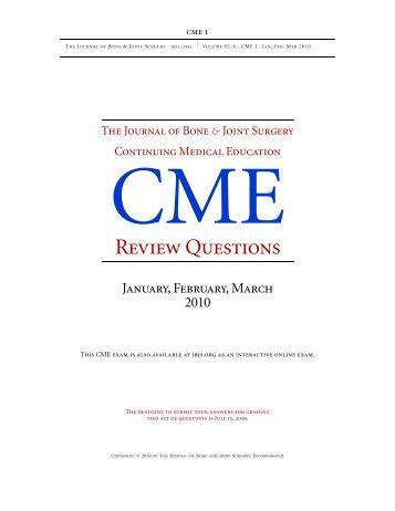 Review Questions - The Journal of Bone & Joint Surgery