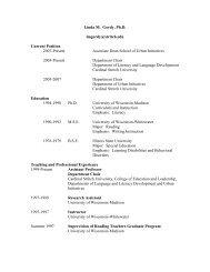 Linda Gordy Resume - Cardinal Stritch University