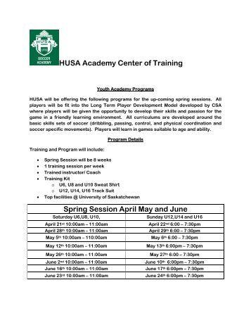 HUSA Soccer Academy – Spring 2012 - wuhca