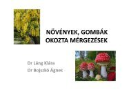 növényi mérgezések
