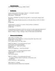 Társasági tagság: 1. Publikációk: 2. Magyar nyelvű előadások