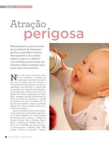 Saiu na revista do IDEC: Atração Perigosa! - IBFAN Brasil