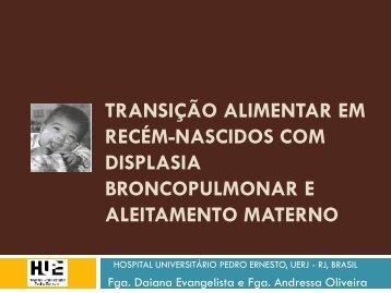 transição alimentar em recém-nascidos com displasia ... - IBFAN Brasil