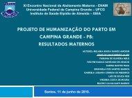 Humanizacao do parto em Campina Grande JANIO ... - IBFAN Brasil