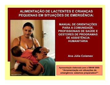 alimentação de lactentes e crianças pequenas em ... - IBFAN Brasil