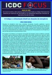 Boletim ICDC Focus - IBFAN Brasil