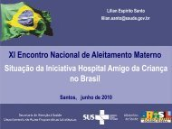 Xl Encontro Nacional de Aleitamento Materno ... - IBFAN Brasil