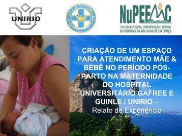 Criacao de um espaco para maes e bebes no pos ... - IBFAN Brasil