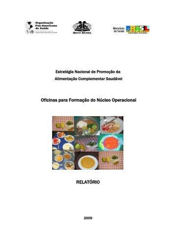 Relatório das oficinas de formação do núcleo ... - IBFAN Brasil