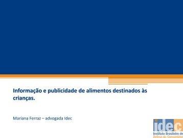 Informação e publicidade de alimentos destinados às ... - IBFAN Brasil