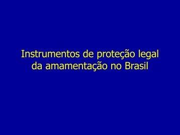 Instrumentos de proteção legal da amamentação no ... - IBFAN Brasil
