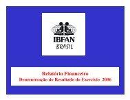 Relatório Financeiro 2006 aprovado em assembléia
