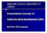 WALTER SISULU UNIVERSITY (WSU) - Natgrowth.co.za
