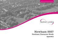Newham Character Study Final Version Appendices (August 2011)