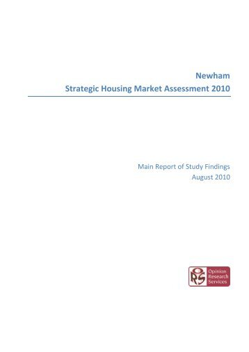 Newham Strategic Housing Market Assessment (PDF)