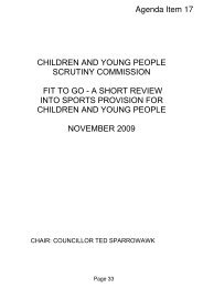 Sports Provision for Children and Young People Review - Newham