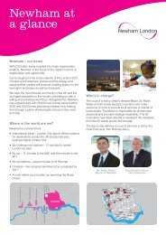 Newham at a glance - 2012 Games press pack