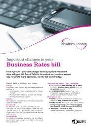 Business Rates Direct Debit mandate form - Newham
