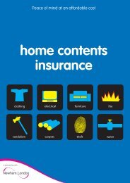 Apply for home contents insurance - Newham