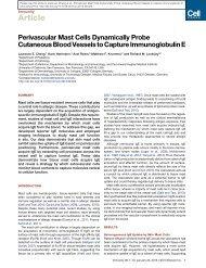 Perivascular Mast Cells Dynamically Probe Cutaneous Blood ...