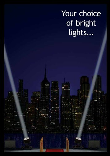 Your choice of bright lights... - Australian Spinal Research Foundation