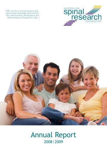 Annual Report 2008-2009 - Australian Spinal Research Foundation