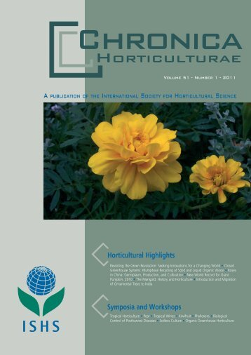 The Marigold: History and Horticulture - Acta Horticulturae