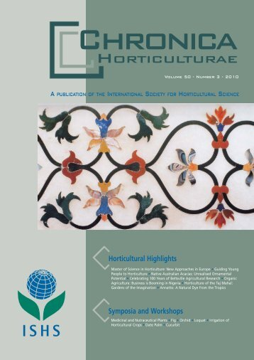 Horticulture of the Taj Mahal - Acta Horticulturae