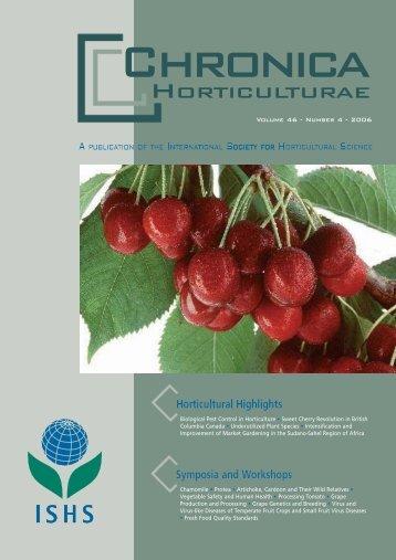 Chronica - Acta Horticulturae