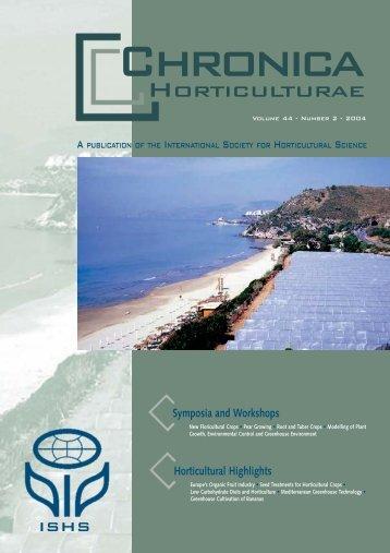 Number 2 - 2004 - Acta Horticulturae