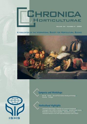 Caravaggio's Fruit: A Mirror on Baroque ... - Acta Horticulturae