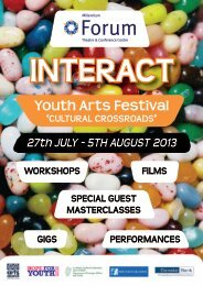The InterAct programme is now available to download - Arts Council ...