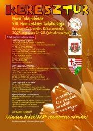 A Keresztúriak Találkozójának részletes programja A résztvevő ...