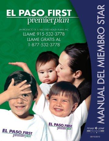 programa star - El Paso First Health Plans, inc.
