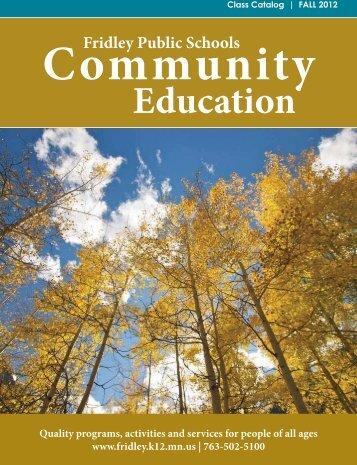 Adult Enrichment - Fridley Public Schools