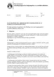 Statusrapport fra arbeidsgruppen for bekjempelse av ... - Helseetaten